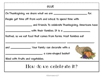 Thanksgiving Flipbook and Activities