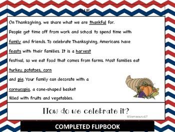 Thanksgiving Flipbook and Activities