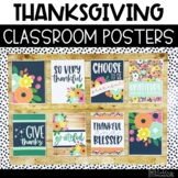 Thanksgiving Flowers Classroom Posters