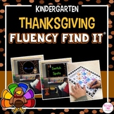 Thanksgiving Fluency Find It (Kindergarten)