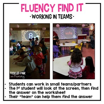 Thanksgiving Fluency Find It (Kindergarten)