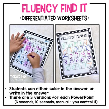 Thanksgiving Fluency Find It (1st Grade)