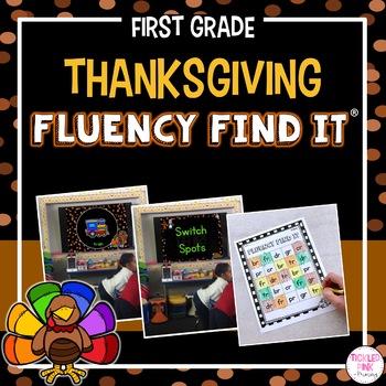 Thanksgiving Fluency Find It (1st Grade)