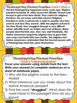 Thanksgiving Fluency
