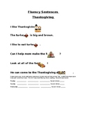 Thanksgiving Fluency Sentences