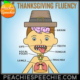 Thanksgiving Fluency Therapy Activities (Stuttering Therapy)