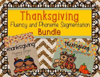 Thanksgiving Fluency and Phonemic Awareness Bundle