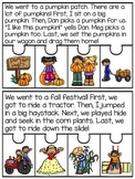 Fall Fluency and Sequencing Reading Comprehension Puzzles