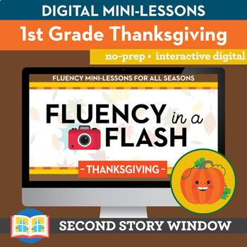 Thanksgiving Fluency in a Flash 1st Grade • Digital Fluency Mini Lessons