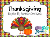 Thanksgiving Rhythm Fly Swatter Card Game