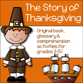 Thanksgiving Activities: Foldable book, glossary and compr