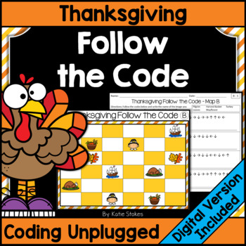 Thanksgiving Follow the Code (Coding Unplugged)
