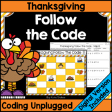 Thanksgiving Coding Unplugged - Follow the Code