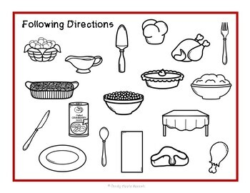 Thanksgiving Following Directions Activities