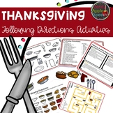 Thanksgiving Following Directions