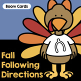 Fall Following Directions | Boom Cards | Fall