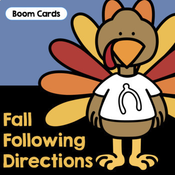 Fall Following Directions   Boom Cards   Fall