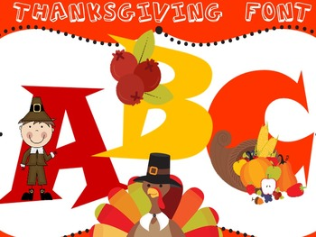 Thanksgiving Font - Personal & Commercial use