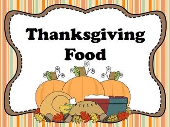 Thanksgiving Food PowerPoint FREEBIE