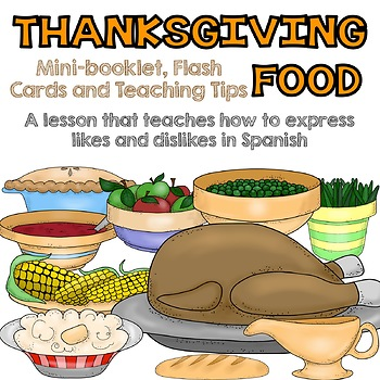 Thanksgiving Food Booklet {Spanish}