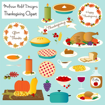 Thanksgiving Food Clipart by Scrapster by Melissa Held ...