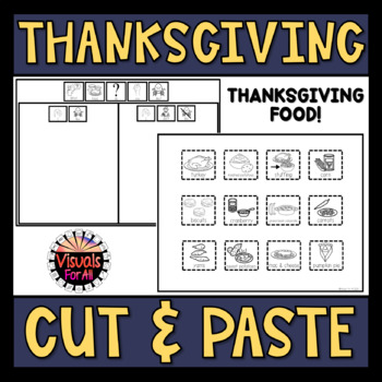 Thanksgiving Food Cut and Paste