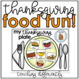 Thanksgiving Food Activities for Autism and Special Education