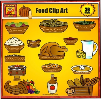 Festive Food Group Clip Art by Charlotte's Clips