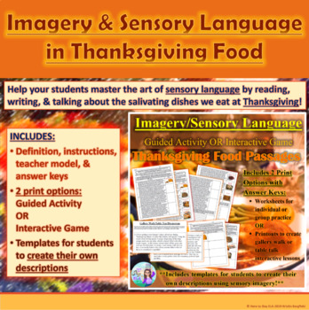 Thanksgiving Food: Imagery and Sensory Language Activity