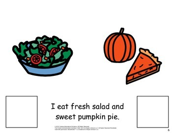 Thanksgiving Food PECS Lesson Book