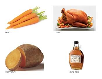 Thanksgiving Food Rhythm Sort