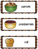 Thanksgiving Food Word Cards