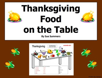 Thanksgiving Food on the Table 2 Designs