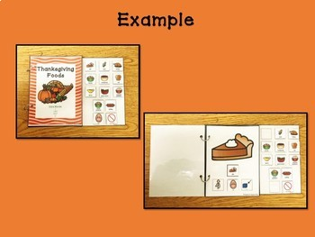 Thanksgiving Foods Vocabulary & Core Vocabulary Interactive Book