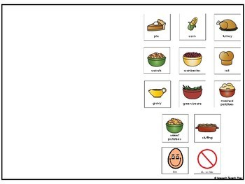 Thanksgiving Foods Interactive Book- AAC & Core Vocabulary