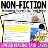 Thanksgiving, Forest Animals, Veteran's Day Nonfiction Reading Passages