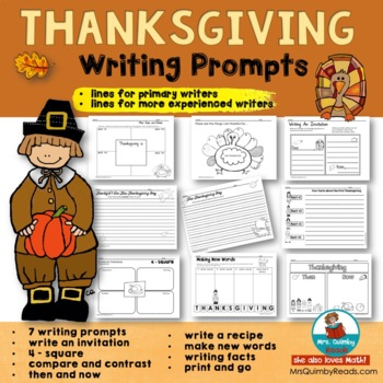 Thanksgiving Writing Prompts | [Seasonal Reading-Writing]