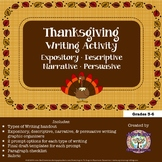 Thanksgiving: Four Types of Writing Activity