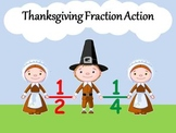 Thanksgiving Fraction Action Booklet Activity - First Grade Geometry Intro