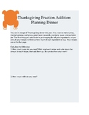 Thanksgiving Fraction Addition