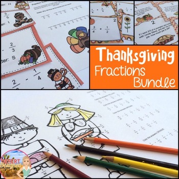 Thanksgiving Fraction Addition and Subtraction Activity Bundle