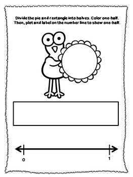 Thanksgiving Math Fraction Booklet