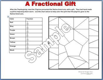 Thanksgiving Fraction Packet
