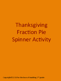 Thanksgiving Fraction Pie Spinner Activity