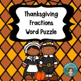 Fractions Thanksgiving for Math or Literacy Centers