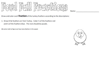 Thanksgiving Fractions 3-pack