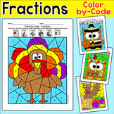 Thanksgiving Math Fractions: Turkey, Pilgrim, Native Ameri