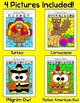Thanksgiving Math Fractions: Turkey, Pilgrim, Native Ameri