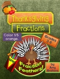Thanksgiving Fractions - Color the Turkey Feathers!