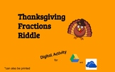 Thanksgiving Fractions Digital Puzzle